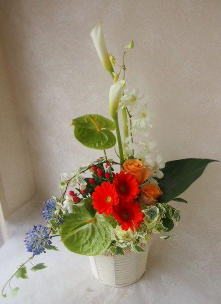 花ギフト|フラワーギフト|誕生日 花|カノシェ話題|スタンド花|ウエディングブーケ|花束|花屋|56824