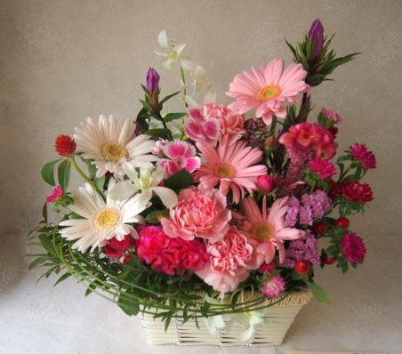 花ギフト|フラワーギフト|誕生日 花|カノシェ話題|スタンド花|ウエディングブーケ|花束|花屋|58050