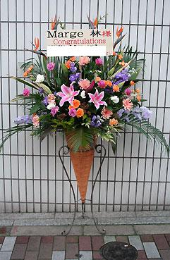 花ギフト フラワーギフト 誕生日 花 カノシェ話題 スタンド花 ウエディングブーケ 花束 花屋 コーン k