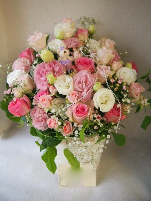 花ギフト|フラワーギフト|誕生日 花|カノシェ話題|スタンド花|ウエディングブーケ|花束|花屋|57349