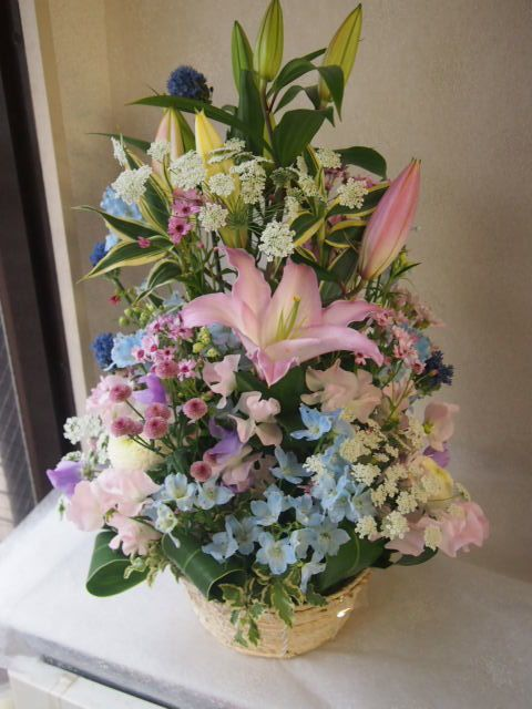 花ギフト|フラワーギフト|誕生日 花|カノシェ話題|スタンド花|ウエディングブーケ|花束|花屋|53261