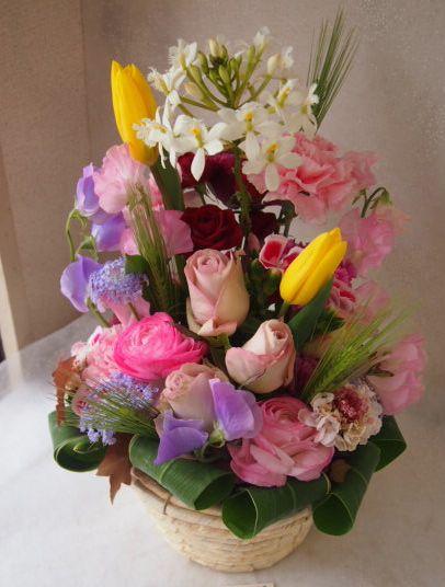 花ギフト|フラワーギフト|誕生日 花|カノシェ話題|スタンド花|ウエディングブーケ|花束|花屋|53551
