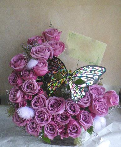 花ギフト|フラワーギフト|誕生日 花|カノシェ話題|スタンド花|ウエディングブーケ|花束|花屋|蝶
