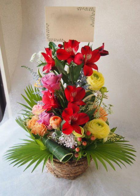 花ギフト|フラワーギフト|誕生日 花|カノシェ話題|スタンド花|ウエディングブーケ|花束|花屋|54418