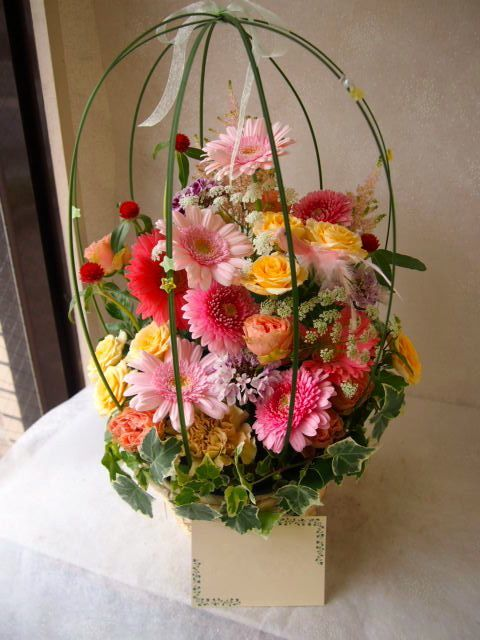 花ギフト|フラワーギフト|誕生日 花|カノシェ話題|スタンド花|ウエディングブーケ|花束|花屋|55272