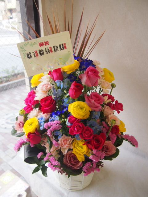 花ギフト|フラワーギフト|誕生日 花|カノシェ話題|スタンド花|ウエディングブーケ|花束|花屋|53632