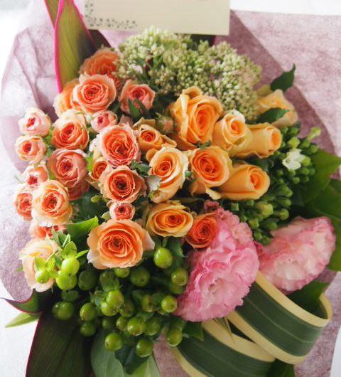 花ギフト|フラワーギフト|誕生日 花|カノシェ話題|スタンド花|ウエディングブーケ|花束|花屋|57767