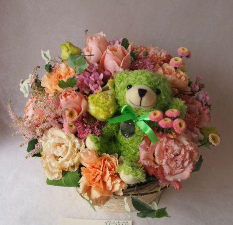 花ギフト|フラワーギフト|誕生日 花|カノシェ話題|スタンド花|ウエディングブーケ|花束|花屋|40760