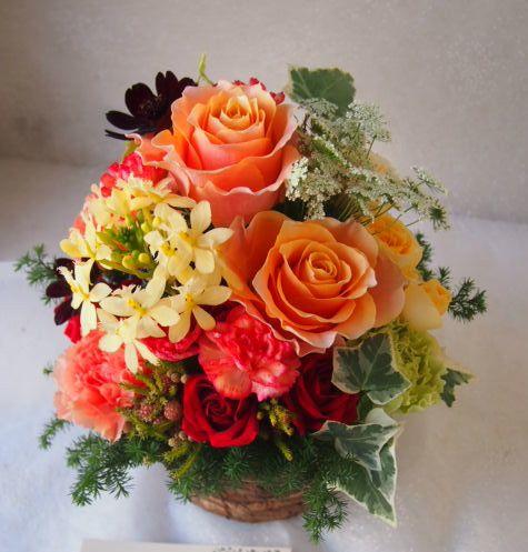 花ギフト|フラワーギフト|誕生日 花|カノシェ話題|スタンド花|ウエディングブーケ|花束|花屋|52208