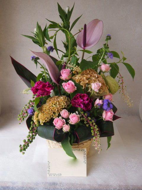 花ギフト|フラワーギフト|誕生日 花|カノシェ話題|スタンド花|ウエディングブーケ|花束|花屋|48709