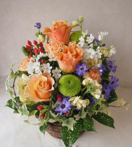 花ギフト|フラワーギフト|誕生日 花|カノシェ話題|スタンド花|ウエディングブーケ|花束|花屋|46622