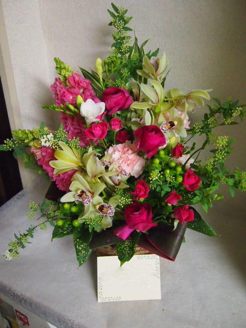 花ギフト|フラワーギフト|誕生日 花|カノシェ話題|スタンド花|ウエディングブーケ|花束|花屋|53888