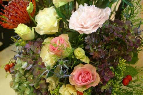 花ギフト|フラワーギフト|誕生日 花|カノシェ話題|スタンド花|ウエディングブーケ|花束|花屋|青あじさい