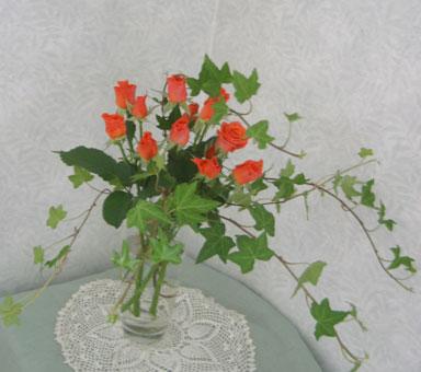 花ギフト フラワーギフト 誕生日 花 カノシェ話題 スタンド花 ウエディングブーケ 花束 花屋 アイビー