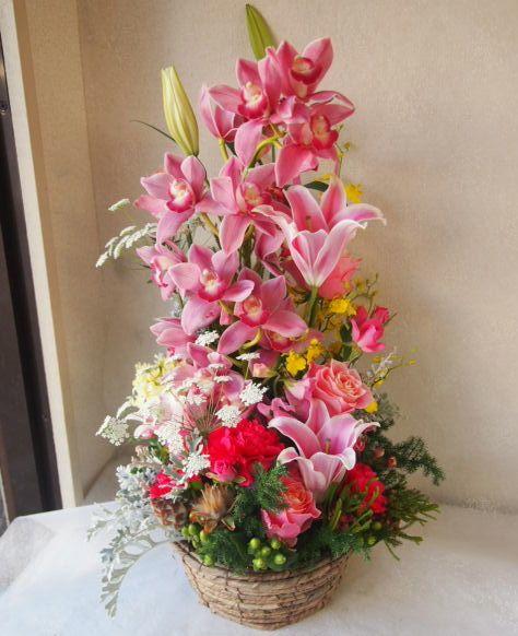 花ギフト|フラワーギフト|誕生日 花|カノシェ話題|スタンド花|ウエディングブーケ|花束|花屋|52461