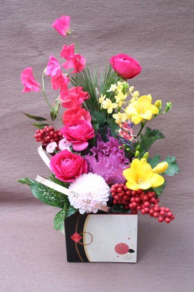 花ギフト フラワーギフト 誕生日 花 カノシェ話題 スタンド花 ウエディングブーケ 花束 花屋 IMG_5484