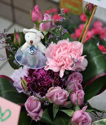 花ギフト|フラワーギフト|誕生日 花|カノシェ話題|スタンド花|ウエディングブーケ|花束|花屋|くま母