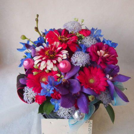 花ギフト|フラワーギフト|誕生日 花|カノシェ話題|スタンド花|ウエディングブーケ|花束|花屋|43055(1)