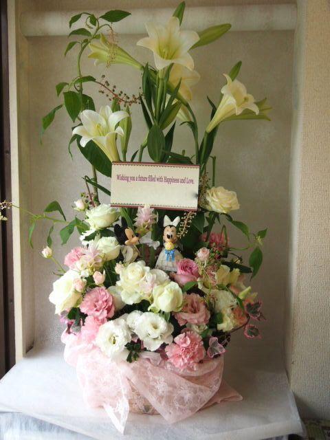 花ギフト|フラワーギフト|誕生日 花|カノシェ話題|スタンド花|ウエディングブーケ|花束|花屋|57009