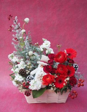 花ギフト|フラワーギフト|誕生日 花|カノシェ話題|スタンド花|ウエディングブーケ|花束|花屋|12015_xmas_a1