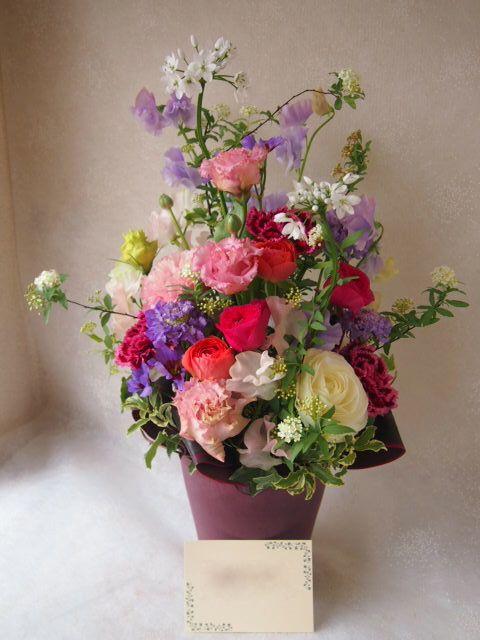 花ギフト|フラワーギフト|誕生日 花|カノシェ話題|スタンド花|ウエディングブーケ|花束|花屋|53471
