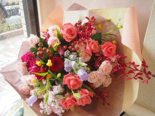 花ギフト|フラワーギフト|誕生日 花|カノシェ話題|スタンド花|ウエディングブーケ|花束|花屋|46999