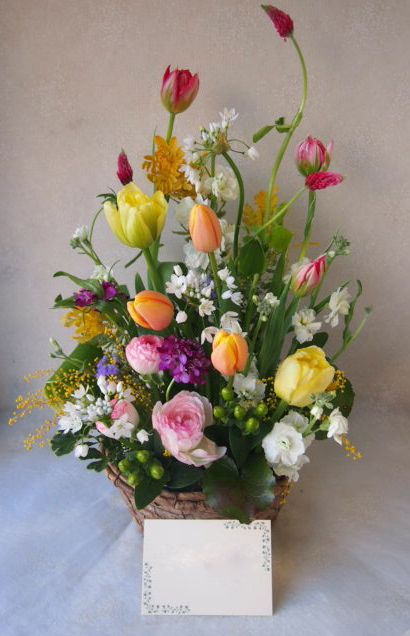 花ギフト|フラワーギフト|誕生日 花|カノシェ話題|スタンド花|ウエディングブーケ|花束|花屋|53666