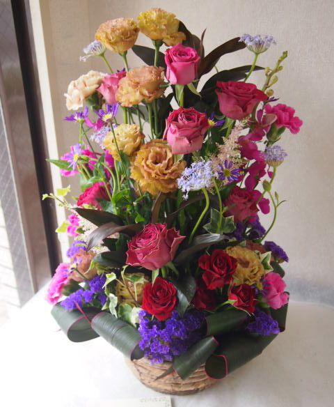 花ギフト|フラワーギフト|誕生日 花|カノシェ話題|スタンド花|ウエディングブーケ|花束|花屋|54817