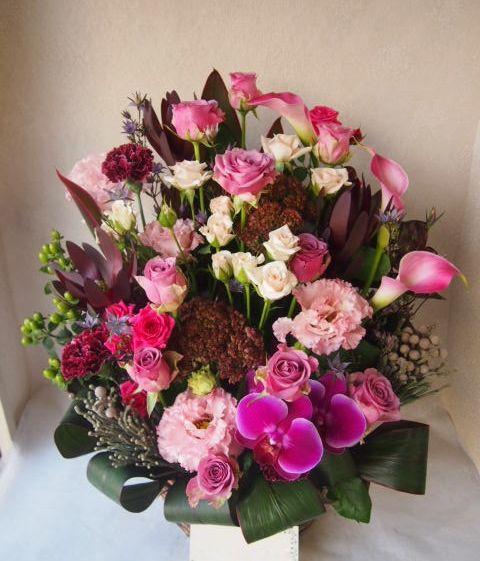 花ギフト|フラワーギフト|誕生日 花|カノシェ話題|スタンド花|ウエディングブーケ|花束|花屋|50917
