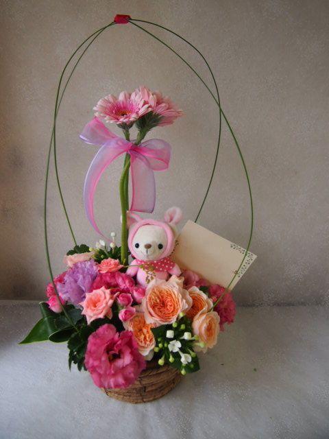 花ギフト|フラワーギフト|誕生日 花|カノシェ話題|スタンド花|ウエディングブーケ|花束|花屋|58367