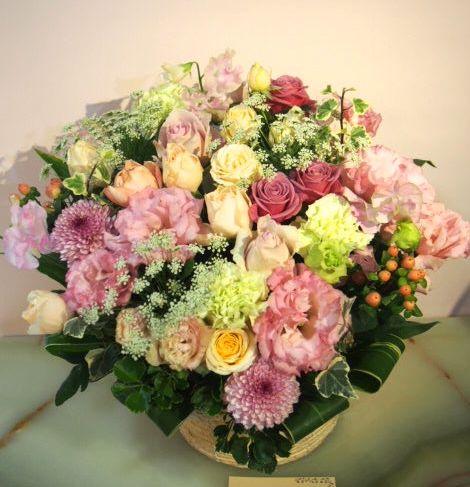 花ギフト|フラワーギフト|誕生日 花|カノシェ話題|スタンド花|ウエディングブーケ|花束|花屋|53201(2)