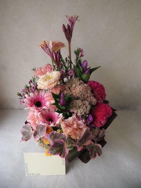 花ギフト|フラワーギフト|誕生日 花|カノシェ話題|スタンド花|ウエディングブーケ|花束|花屋|58003