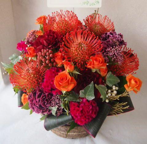 花ギフト|フラワーギフト|誕生日 花|カノシェ話題|スタンド花|ウエディングブーケ|花束|花屋|50796