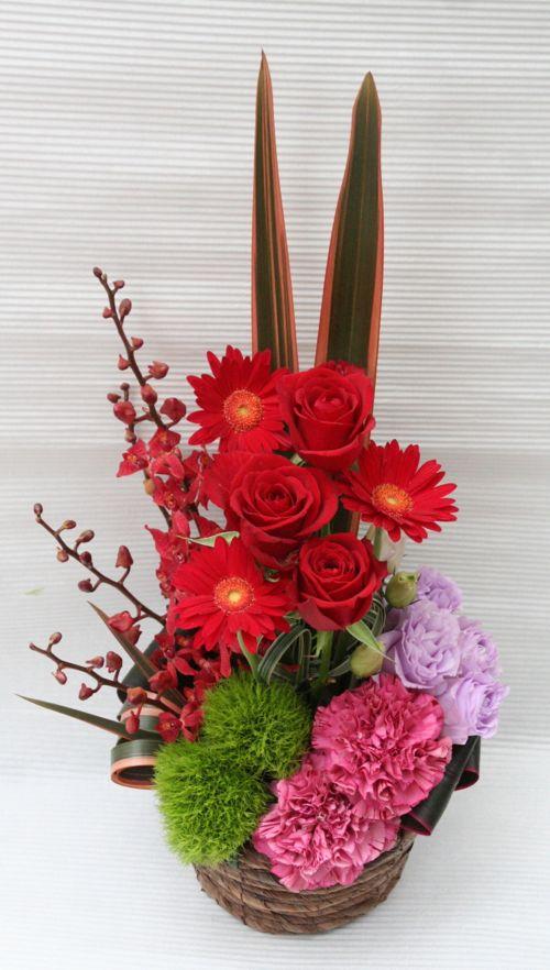 花ギフト|フラワーギフト|誕生日 花|カノシェ話題|スタンド花|ウエディングブーケ|花束|花屋|2015_father_a3(1)