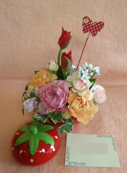花ギフト|フラワーギフト|誕生日 花|カノシェ話題|スタンド花|ウエディングブーケ|花束|花屋|いちご