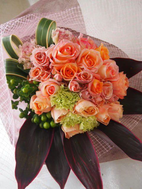 花ギフト|フラワーギフト|誕生日 花|カノシェ話題|スタンド花|ウエディングブーケ|花束|花屋|53439(1)