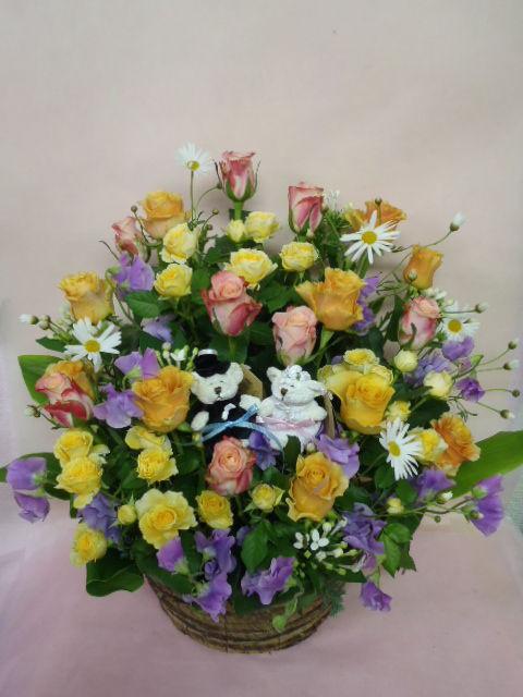 花ギフト|フラワーギフト|誕生日 花|カノシェ話題|スタンド花|ウエディングブーケ|花束|花屋|19646