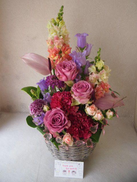 花ギフト|フラワーギフト|誕生日 花|カノシェ話題|スタンド花|ウエディングブーケ|花束|花屋|55792