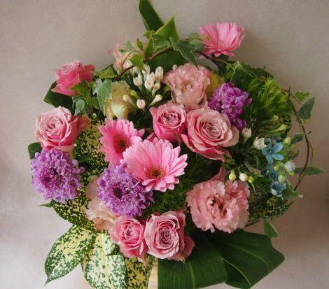 花ギフト|フラワーギフト|誕生日 花|カノシェ話題|スタンド花|ウエディングブーケ|花束|花屋|47362