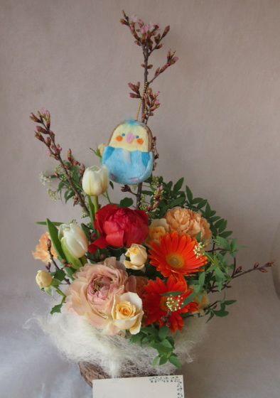 花ギフト|フラワーギフト|誕生日 花|カノシェ話題|スタンド花|ウエディングブーケ|花束|花屋|46263