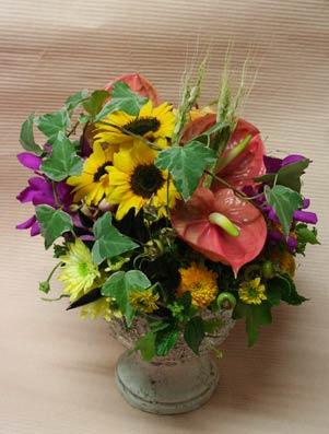 花ギフト フラワーギフト 誕生日 花 カノシェ話題 スタンド花 ウエディングブーケ 花束 花屋 いじちさん ヒマワリアンス