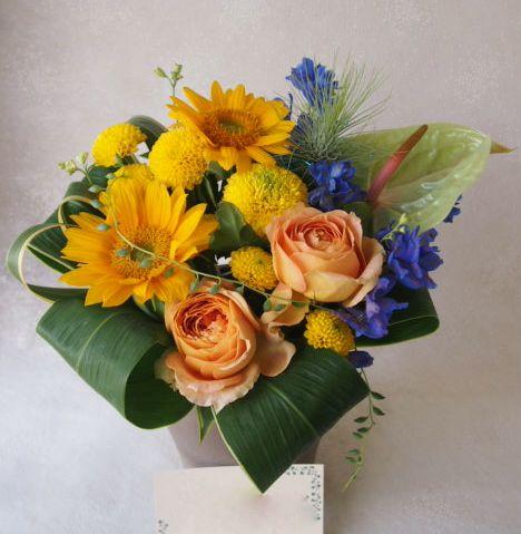 花ギフト|フラワーギフト|誕生日 花|カノシェ話題|スタンド花|ウエディングブーケ|花束|花屋|48809(1)