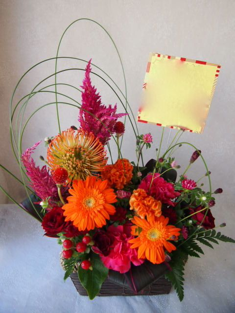 花ギフト|フラワーギフト|誕生日 花|カノシェ話題|スタンド花|ウエディングブーケ|花束|花屋|58070