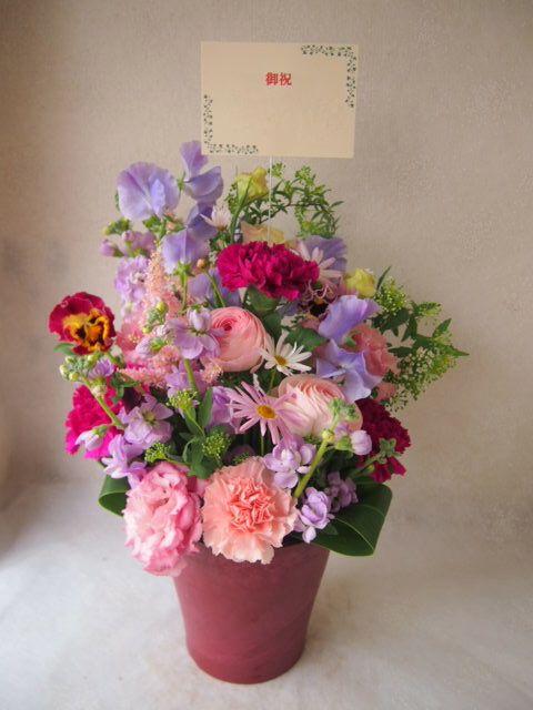 花ギフト|フラワーギフト|誕生日 花|カノシェ話題|スタンド花|ウエディングブーケ|花束|花屋|54115