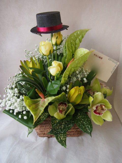 花ギフト フラワーギフト 誕生日 花 カノシェ話題 スタンド花 ウエディングブーケ 花束 花屋 42532