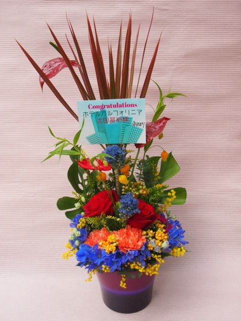 花ギフト|フラワーギフト|誕生日 花|カノシェ話題|スタンド花|ウエディングブーケ|花束|花屋|53491