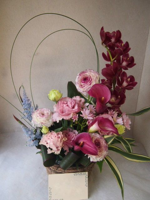 花ギフト|フラワーギフト|誕生日 花|カノシェ話題|スタンド花|ウエディングブーケ|花束|花屋|54169