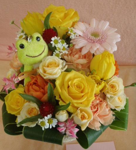 花ギフト|フラワーギフト|誕生日 花|カノシェ話題|スタンド花|ウエディングブーケ|花束|花屋|かえる じゅん