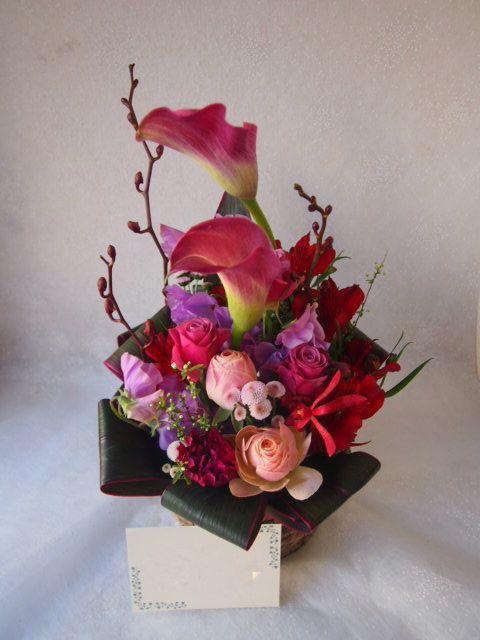 花ギフト|フラワーギフト|誕生日 花|カノシェ話題|スタンド花|ウエディングブーケ|花束|花屋|53189
