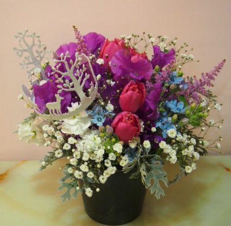 花ギフト|フラワーギフト|誕生日 花|カノシェ話題|スタンド花|ウエディングブーケ|花束|花屋|54167